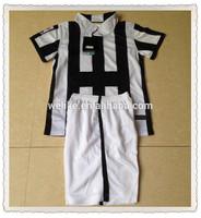 2015 black and white stripe football shirts china juven home design soccer sets cheap