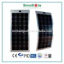 High Efficiency Light Weight 100 watt flexible solar panels for Solar Power Boat car Caravan RV Kit with TUV/PID/CEC/CQC/IEC/CE