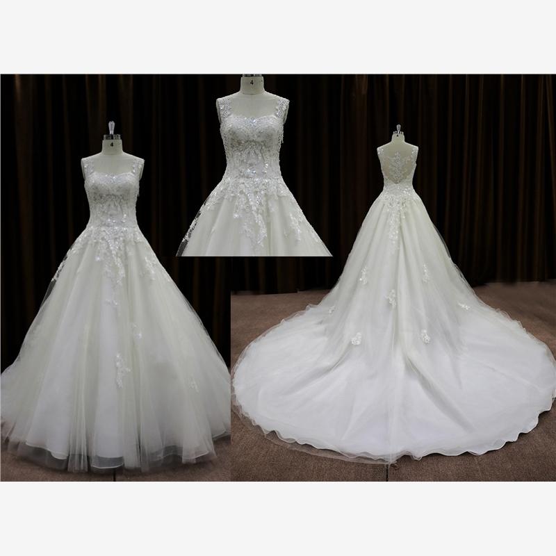Tradicional lace muçulmano nupcial vestido de casamento fotos