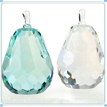 New Clear Green K9 Polished Crystal Apple For Wedding Supplies
