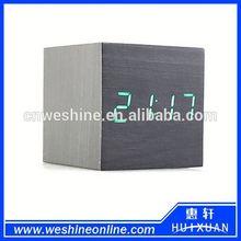 Wooden decor led digital alarm clock