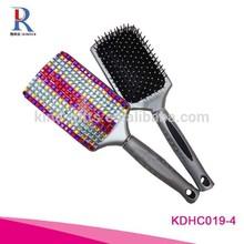 2014 Christmas Custom Diamond Crystal Hair Extension Brush