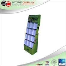 Cardboard PSP floor display rack pockets display stand in shop retail