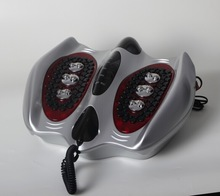 Deep rolling and kneading foot massager with electromagnetic wave