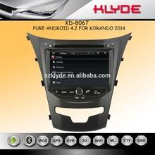 7 pulgadas HD 1080 P BT TV GPS IPOD para korando nueva