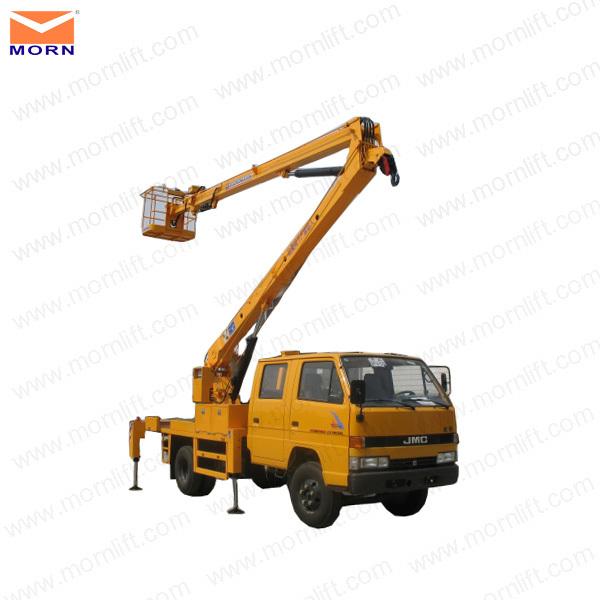 Truck mounted man lift/hydraulic lift platform truck