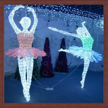 led christmas party decoration light /dancer motif lamp led wedding decoration