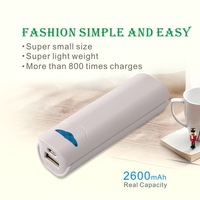 2600 mAh Wallet Sized Portable Lipstick Power Bank Charger for iPhone Promotion