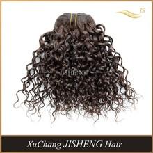 Top quality cheap 1# jerry curl 100% virgin human hair weaving,Brazilian hair weft,cheap brazillian hair weaving JC