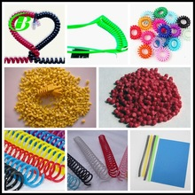 colorful pvc spiral binding coil raw materials granules