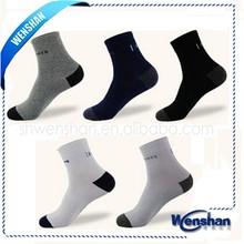 Wenshan orgánico del algodón calcetines de baloncesto