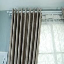 Decorative Asian Solid Velvet Curtain Drapery Fabric