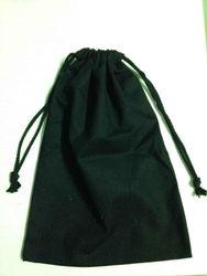 high quality promotional usage custom made 8oz 25cm*35cm black blank cotton drawstring bag