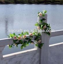 Champagne Artificial Fake Silk Rose Flower Ivy Vine Hanging Garland Wedding Home Decor