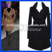 Fashion Ladies Long Winter Parka Women Wool cashmere coat