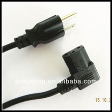 Laptop power supply AC eletrical power cable UL 3pin power cord with SVT/SJT 3 cores wire Shenzhen Supplier