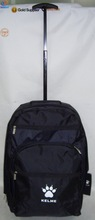 420D printed logo zipper front pocket single trolley bag for traveling travel bag with wheel