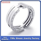 Wholesale newest style high quality stainless steel eternity ring