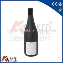 Classic froest black wine bottle,Brandy glass bottle,wine bottle label