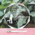 k9 laser de cristal gravada ofício prêmio
