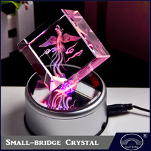 Wholesale Rose Flowers Souvenir Gifts 3d Laser Crystal Pictures