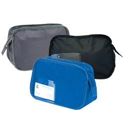 Portable Waterproof Nylon Toiletry Cosmetics Wash Bag Makeup Case Travel Hanging Gray Blue Black