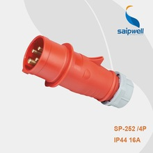 2014 CEE/IEC IP44 16a 4-pin female power plug Waterproof Type use for equipment