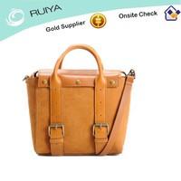 Top Grade Unique Design Lady Genuine Leather Handbag with Durable Handles and Adjustable Shoulder Strap
