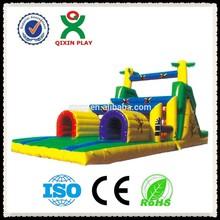 Lastest special design giant inflatable slide/inflatable double lane slip slide/inflatable slip n slide QX-115E