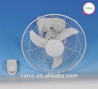 Safty energy saving solar dc 360 degree wall fan 16inch orbit ceiling fan
