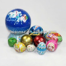 popular Christmas tree ornaments gift tin ball
