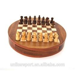 wooden chess& checker game set custom luxury wooden chess set