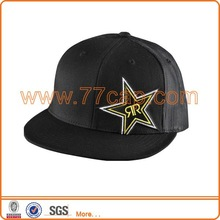 Hot sale black embroidered snapback mesh hats