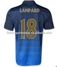 2014/2015 season soccer club jersey Man City away football team wear soccer jersey grade original manchester 18# LAMPARD Shirt