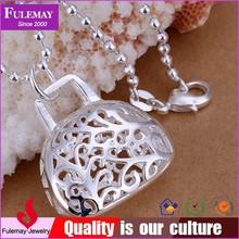 Fancy blank keepsake cage locket pendants FP037