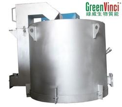 Hot sale automatic industrial biomass wood pellet burner aluminium melting furnace 300/500/800/1000KG capacity