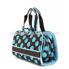 Makeup Toiletry Bag Travel Hanging Storage Wash Polka Dots Folding Cosmetic Bag Organizer Case