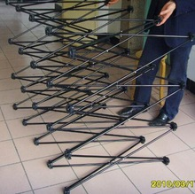 iron material strengthen pop up with black coated pole frame