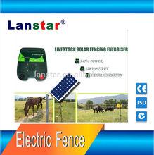 Hot sale!!! Lanstar solar fence charger/energizer 5J for cattle