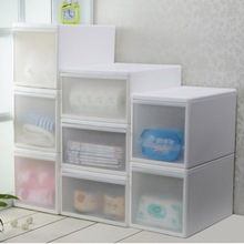 Clothes Organizer Transparent Plastic Storage Cabinet Drawer