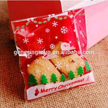 Disposable christmas plastic bag for food