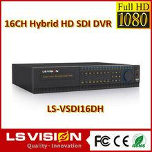 LS VISION 16 channel 1080p 30fps 16ch hd sdi hybrid cctv dvr ddns