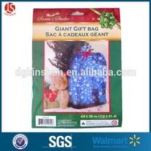 Christmas printed pe bag decorative printing shrink wrap