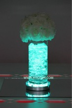 Frozen Party Supply 6inch Round Sliver Color Changing Vase Led Light Base For Wedding Decorations
