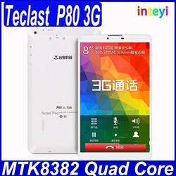 8.0inch Teclast P80 quad core CPU 1.3GHz 1GB/16GB Built-in 3G support WiFi/GPS/bluetooth/OTG Teclast tablet