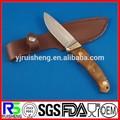 hot venda de madeira de cor lidar com lâmina fixa de sobrevivência faca de caça