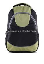 fashion black polyester school laptop backpack