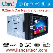 6.2inch 2 din car radio with gps navigation china