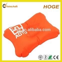 Stock Flocked PVC Rectangel Shape inflatable pvc pillow