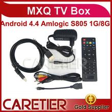 2014best selling product MXQ Quad core A5 android 4.4 XBMC set top box MXQ TV BOX multiple video decoding Power LED